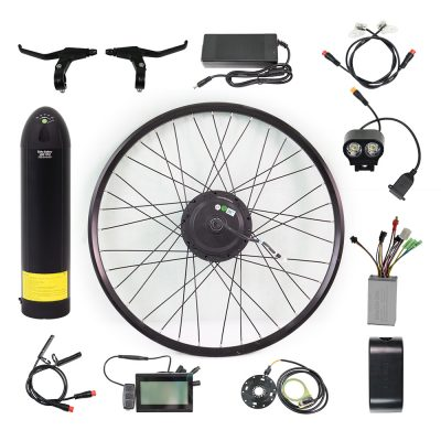 250w electric bike conversion kit front with battery