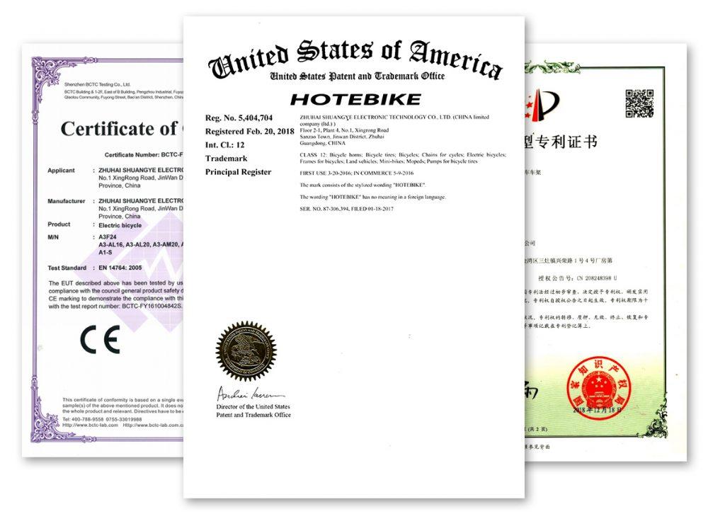 ebike certification