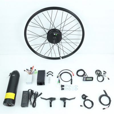 48V kit install electric motor on mountain bike 26 inch wheel